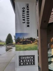 Church & State Wines banner at the entrance