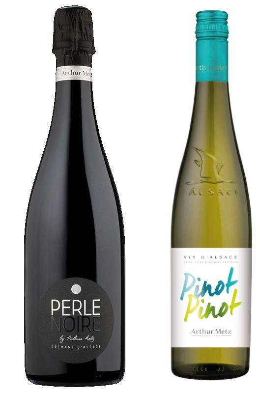 Arthur Metz Perle Noire NV and Arthur Metz Pinot Pinot 2018 wines