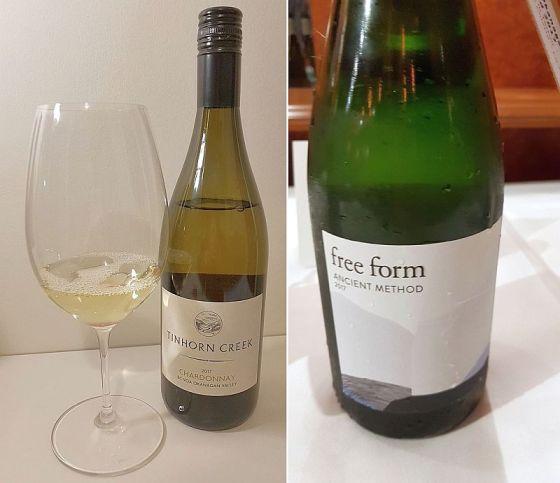 Tinhorn Creek Vineyards Chardonnay 2017 and Okanagan Crush Pad Free Form Ancient Method 2017 wines
