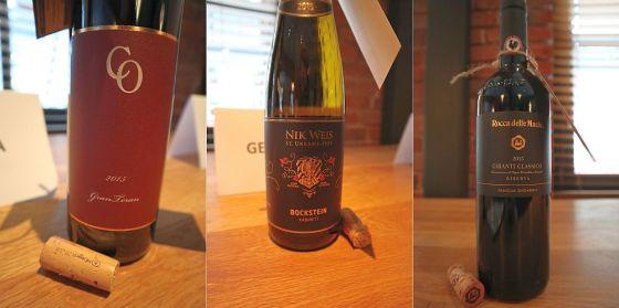 Coronica Wines Grand Teran 2015, Croatia, Weingut Nik Weis - St. Urbans-Hof Bockstein Kabinett Riesling 2015, Germany, and Rocca Delle Macie Rocca Chianti Classico Riserva DOCG 2015, Italy wines