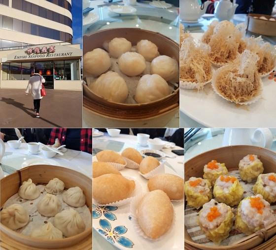 Empire Seafood Restaurant with har gow, wu gok, xiao long bao, ham sui gok, and siu mai