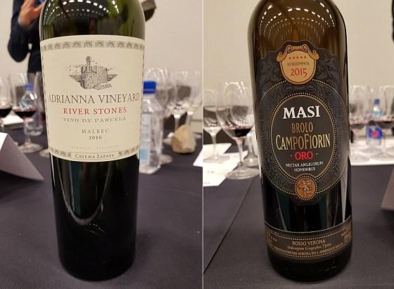 Bodega Catena Zapata Adrianna Vineyard River Stones Malbec 2016 and MASI Agricola Brolo di Campofiorin Oro 2014 wines at VanWineFest 2020
