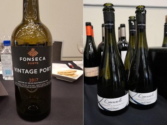 Fonseca Vintage Port 2017 and Medici Ermete Quercioli Lambrusco Sorbara NV wines at VanWineFest 2020