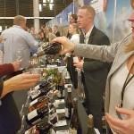 People sampling French wine at VanWineFest 2020