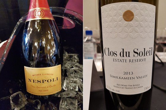 Poderi Dal Nespoli Metodo Classico Nespoli Pas Dose NV and Clos du Soleil Winery Estate Reserve Red 2013 wines at VanWineFest 2020