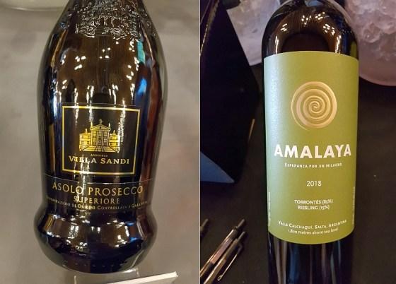 Villa Sandi Asolo Prosecco Superiore DOCG Brut NV and Bodega Colome Amalaya Torrontes Riesling 2018 wines at VanWineFest 2020