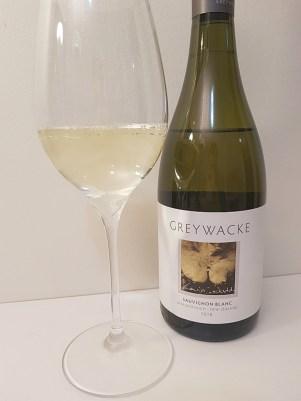 Greywacke Marlborough Sauvignon Blanc 2018 with wine in glass
