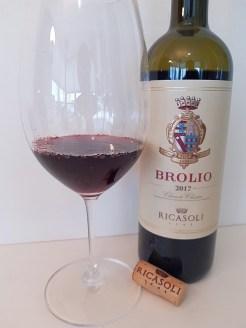 Ricasoli Brolio Chianti Classico DOCG 2017 with wine in glass