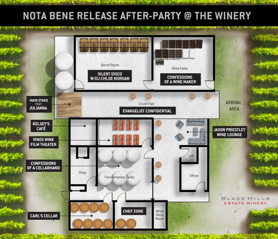 Black Hill Virtual After Party Floor Plan