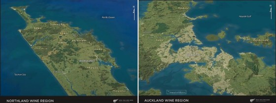 Northland and Auckland Wine Regions in New Zealand