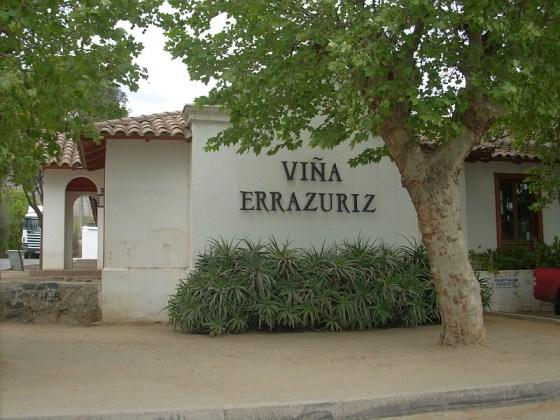 Entering Vina Errazuriz