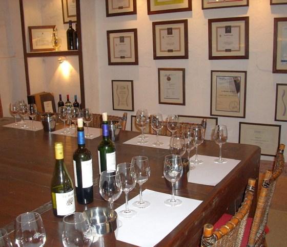 In the Viña Viu Manent tasting room