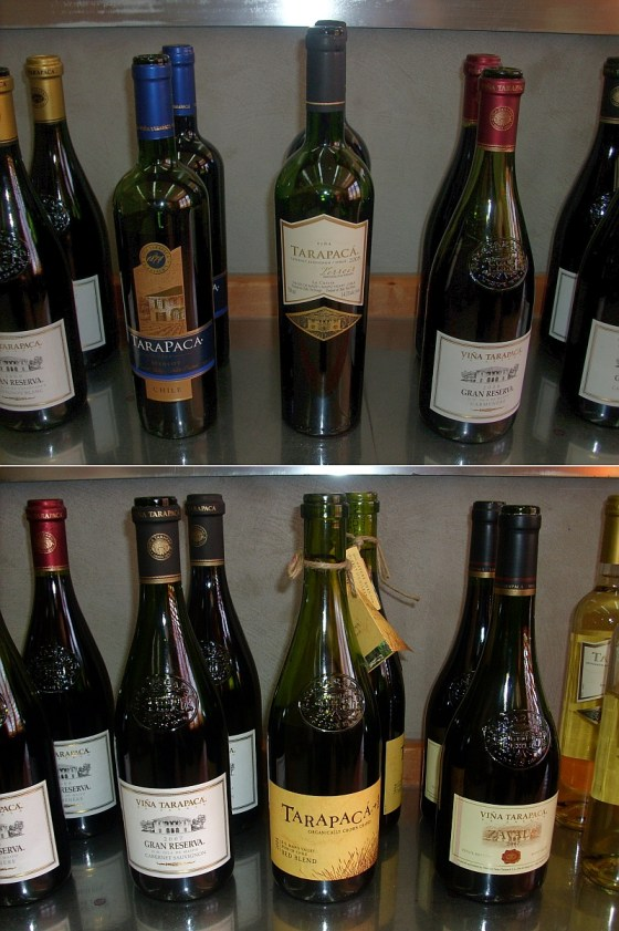 Tasting a wide range of wines from Viña Tarapaca ex Zavala