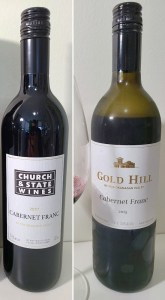Church & State Wines Cabernet Franc 2017 and Gold Hill Cabernet Franc 2015