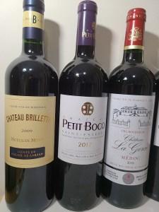 CHÂTEAU BRILLETTE, CHÂTEAU PETIT BOCQ, and CHÂTEAU LA GORCE wines