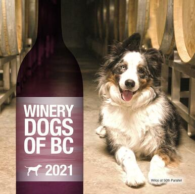 2021 Winery Dogs of BC calendar cover