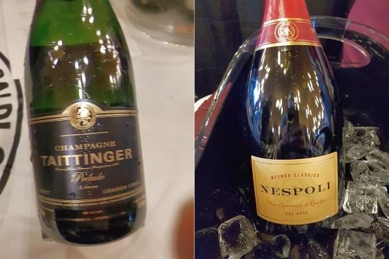 Champagne Taittinger Prelude Grands Cru NV and Poderi Dal Nespoli Metodo Classico Nespoli Pas Dose NV