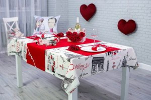 Set the table on Valentines Day