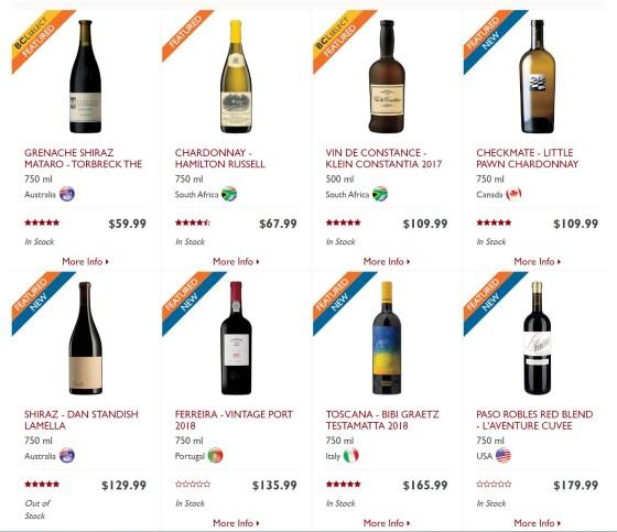 BC Liquor Stores 100 anniversary rare, premium, collectible wines and spirits 1