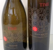 TIME Viognier 2018 and White Meritage 2018 labels