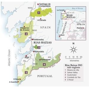 Rias Baixas map (Courtesy Decanter.com)