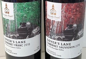 Seaside Pearl Farmgate Winery Lover's Lane wine labels