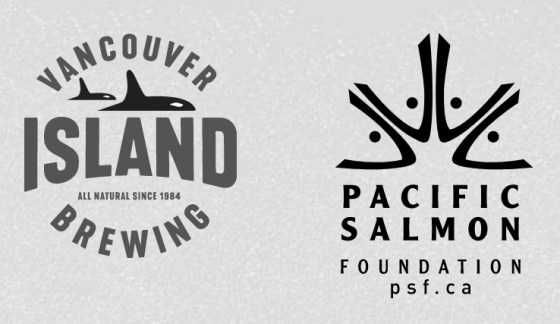 Vancouver Island Brewing and Pacific Salmon Foundation logos