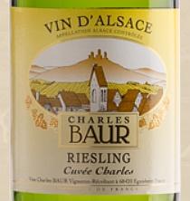 Domaine Charles Baur RIESLING, AOC Alsace, 2018 CUVÉE CHARLES