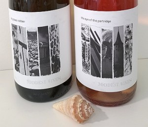 Modest Wine labels
