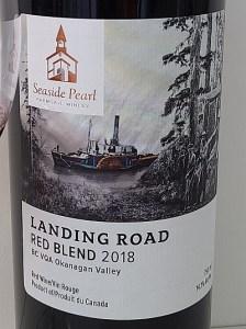 Seaside Pearl Farmgate Winery Landing Road Red Blend label