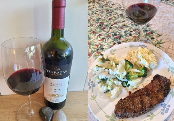 Terrazas de los Andes Reserva Malbec 2018 and Steak Dinner Pairing