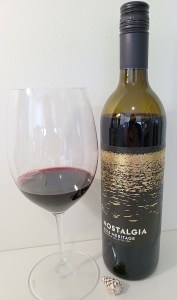 Nostalgia Wines Family Collection Meritage 2018 with wine in glass