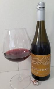 Spearhead Winery Golden Retreat Vineyard Pinot Noir 2019 with wine in glass