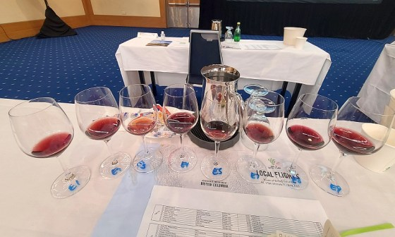 Fifth flight of BC wines- Pinot Noir and Gamay Noir