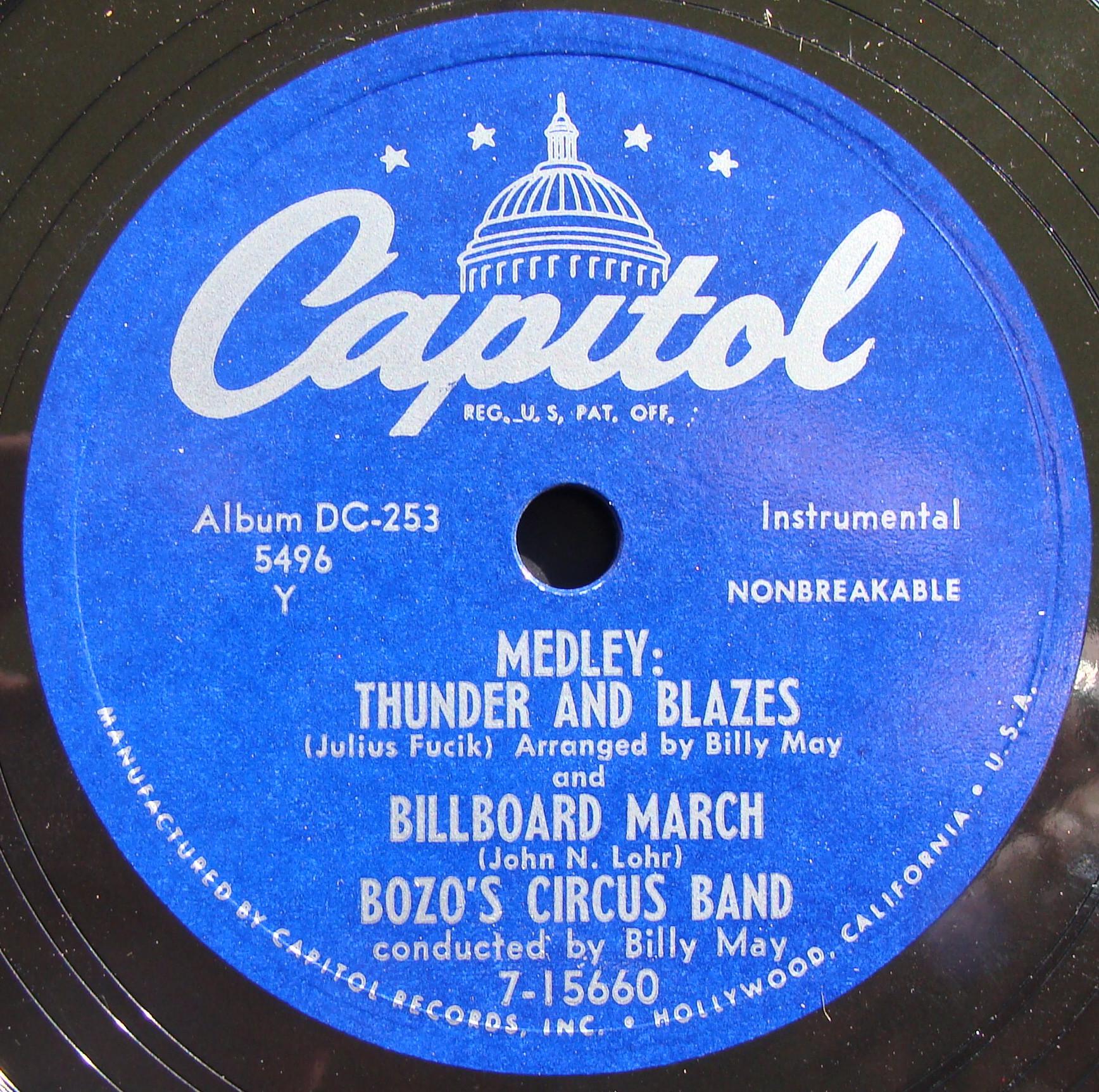 Bozo's Circus Band Record Label