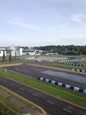 Brooklands circuit view from brooklands Hotel