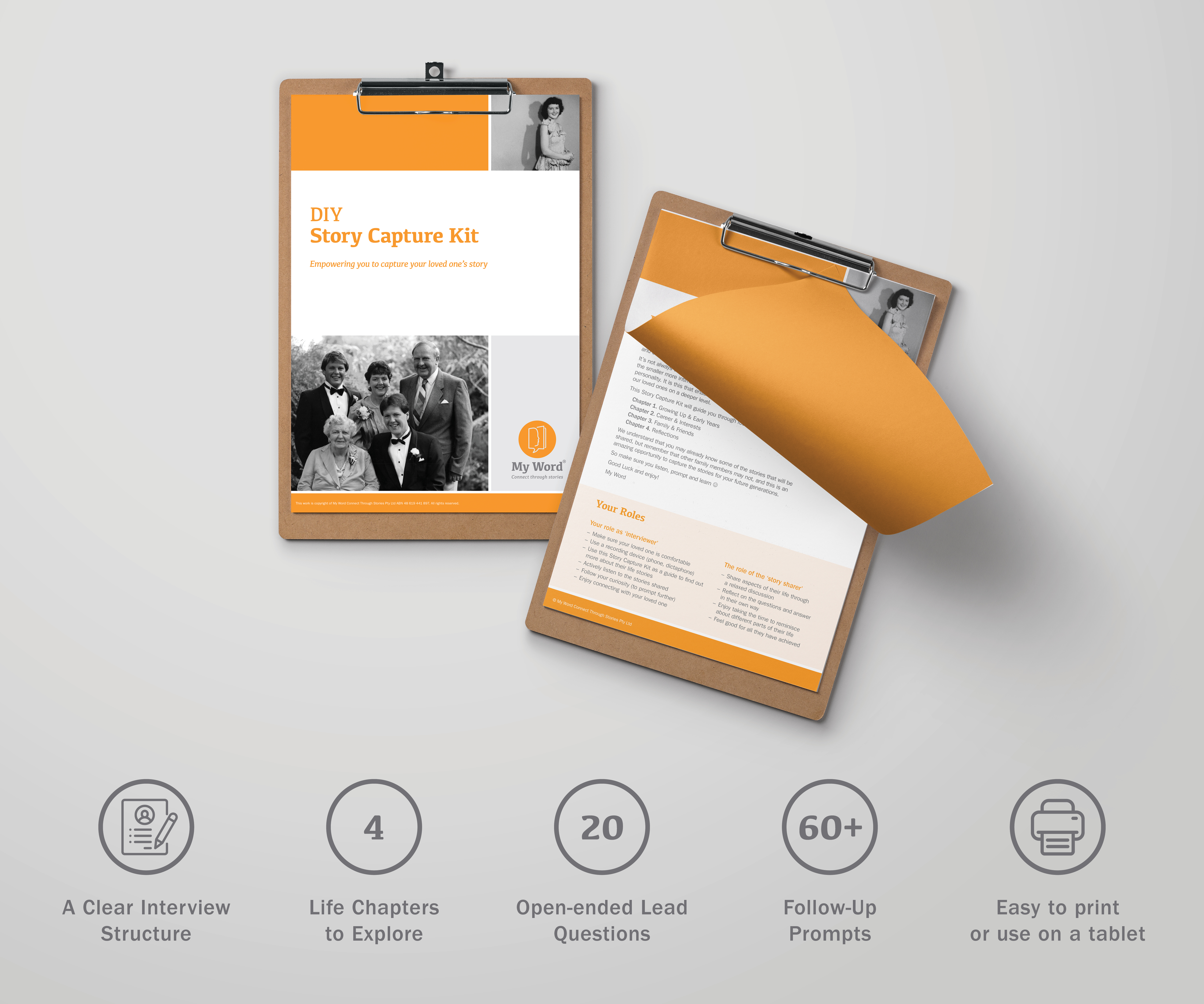 DIY Story Capture Kit interview and capture the story of your loved one