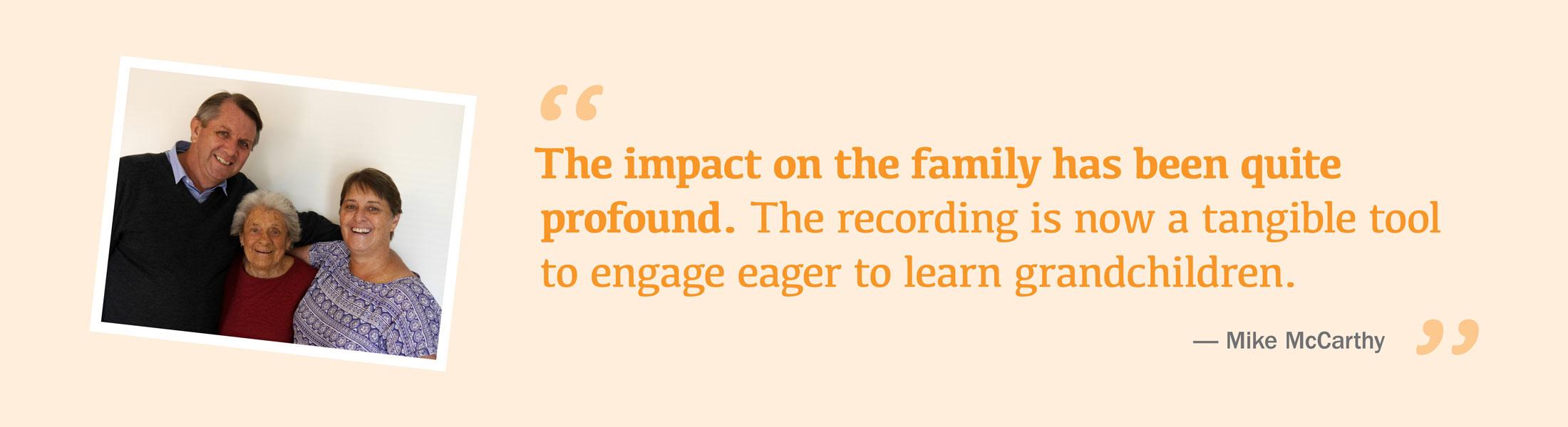 my word profound impact on family