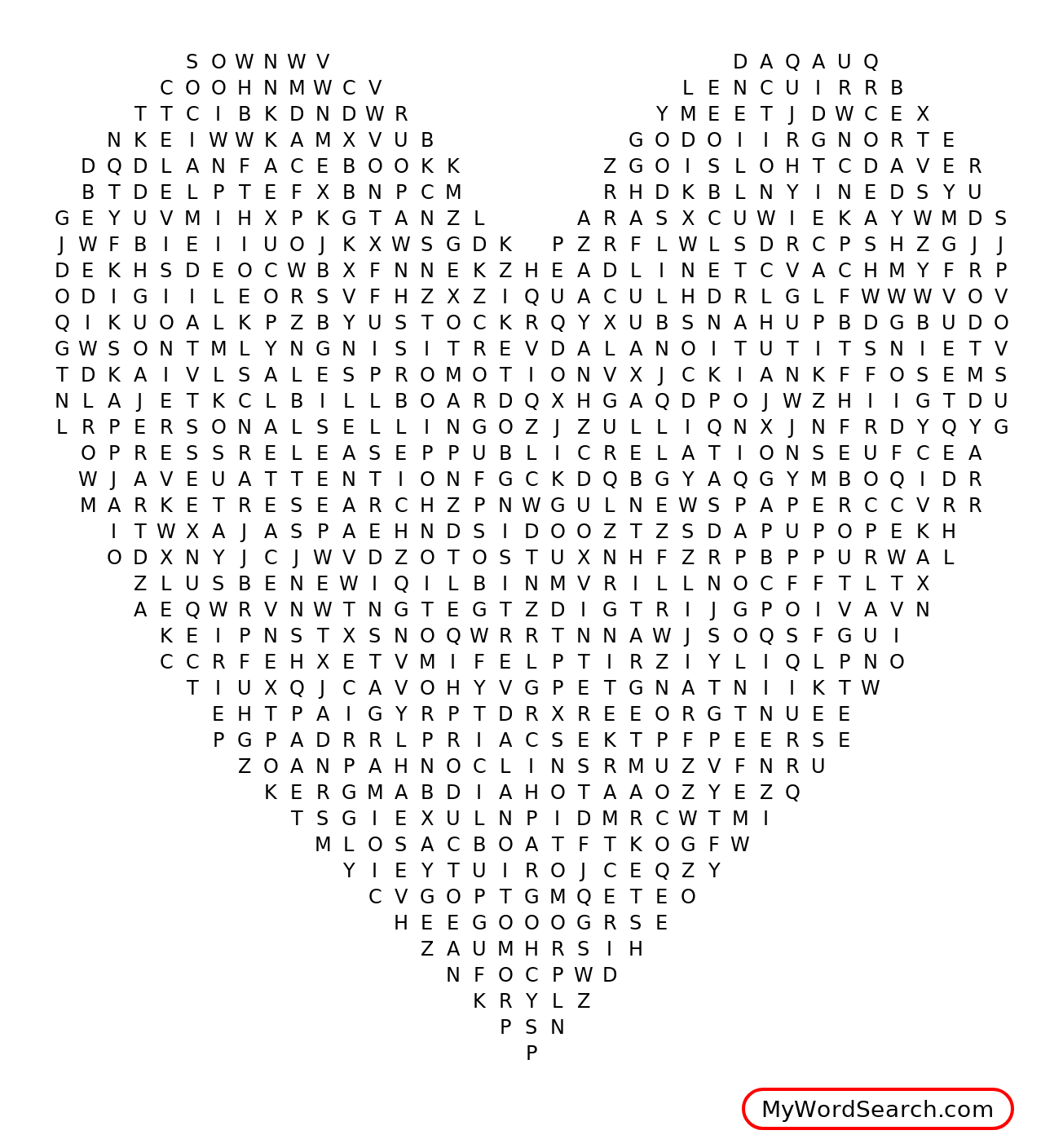 Advertising Word Search
