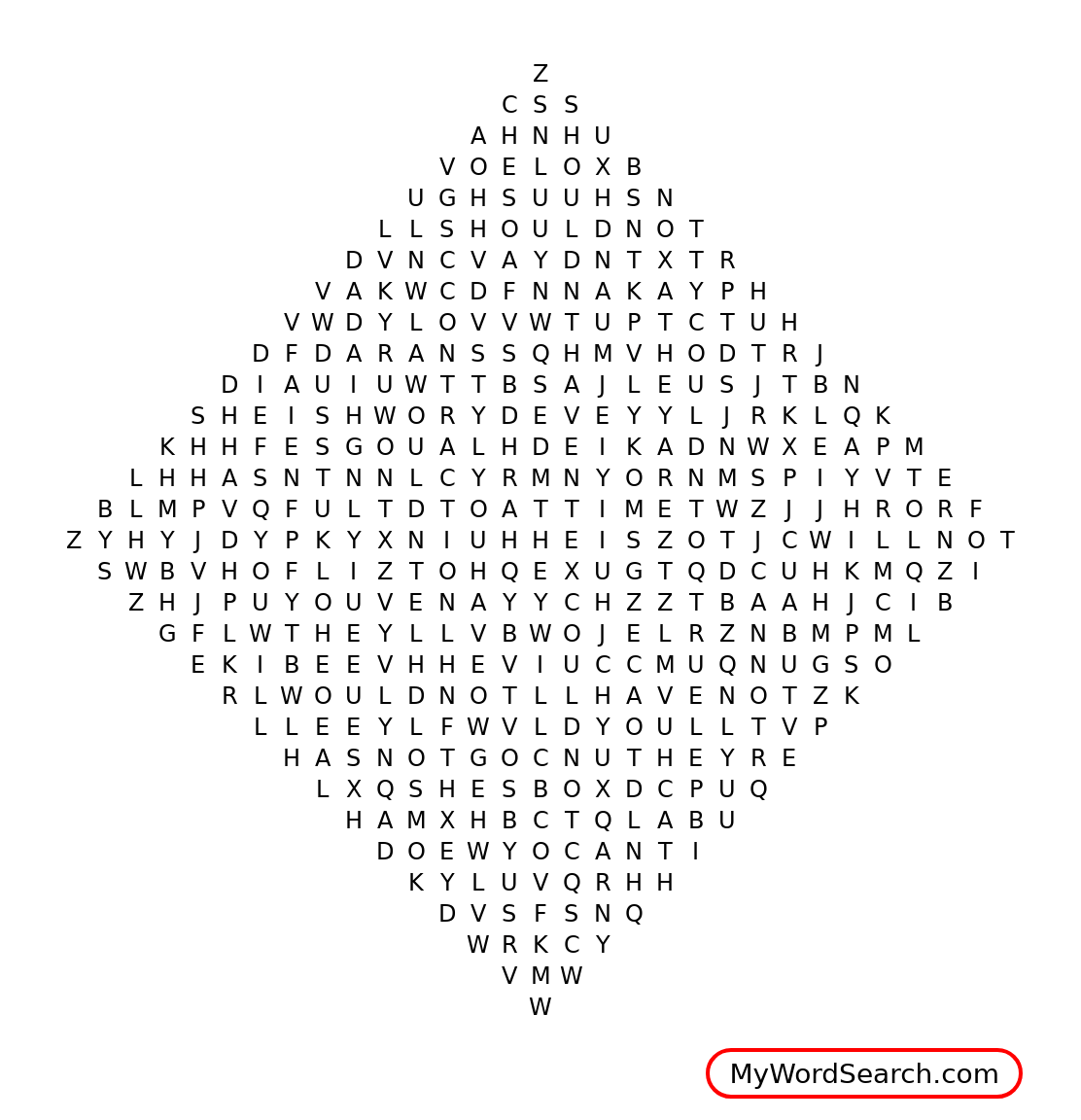 Bell Work Contraction Word Search