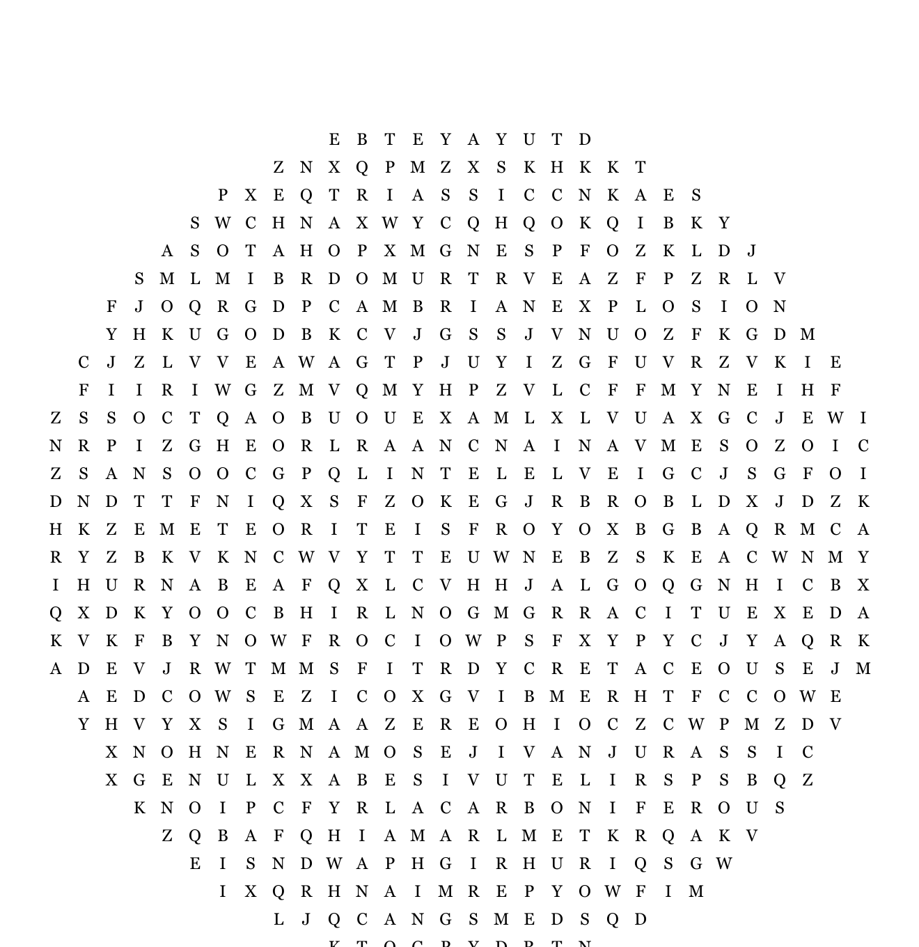 Geological Timeline Word Search