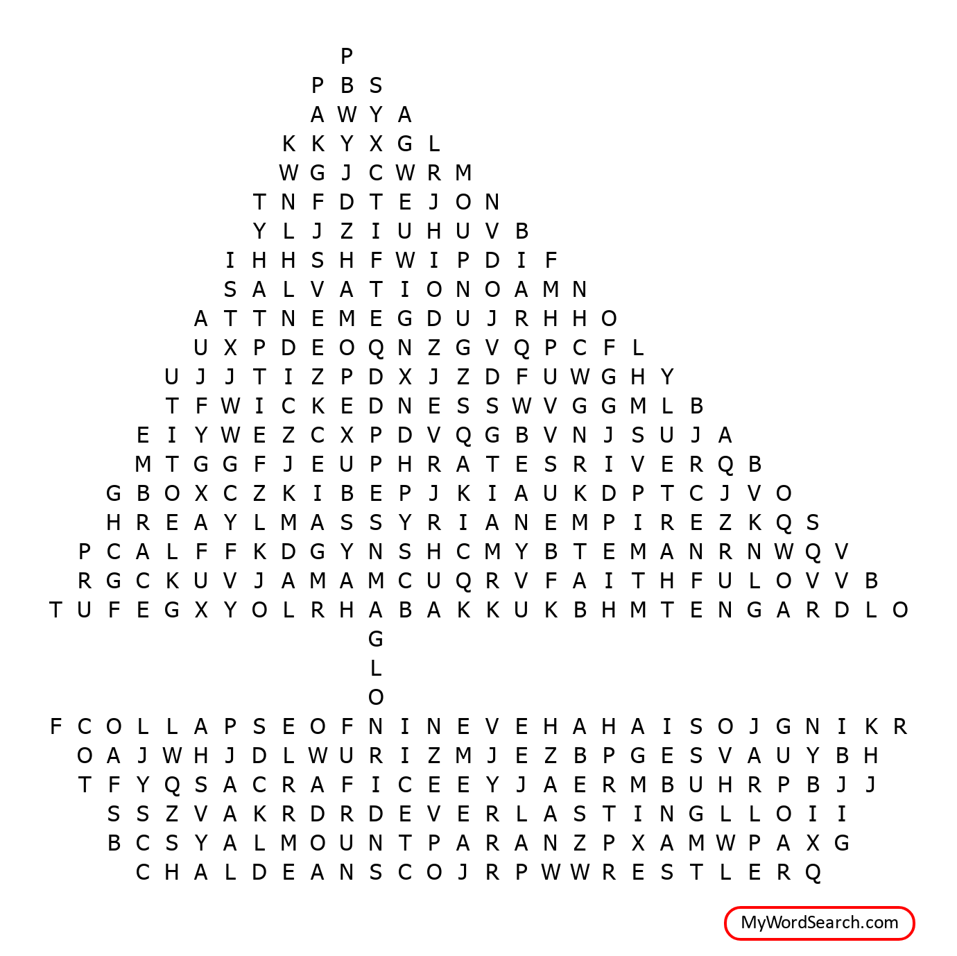 Habakkuk Word Search