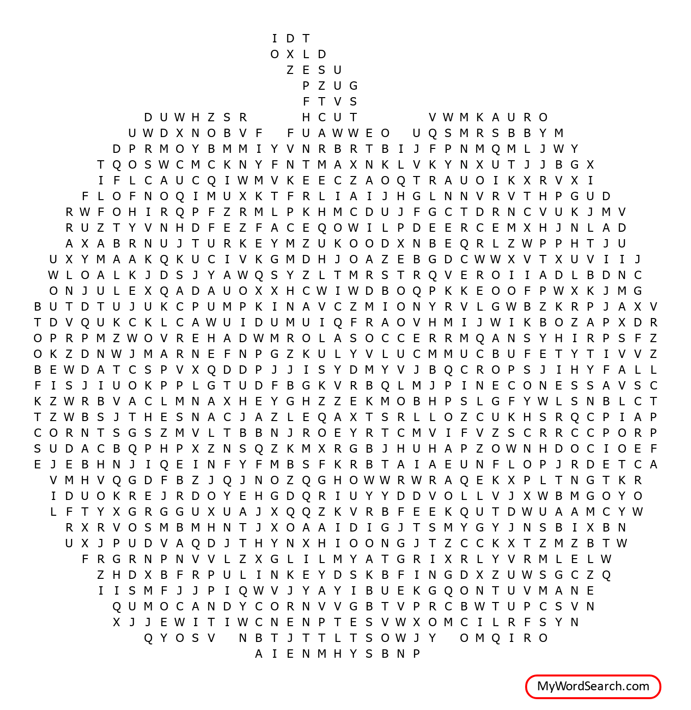 Harvest Party Word Search