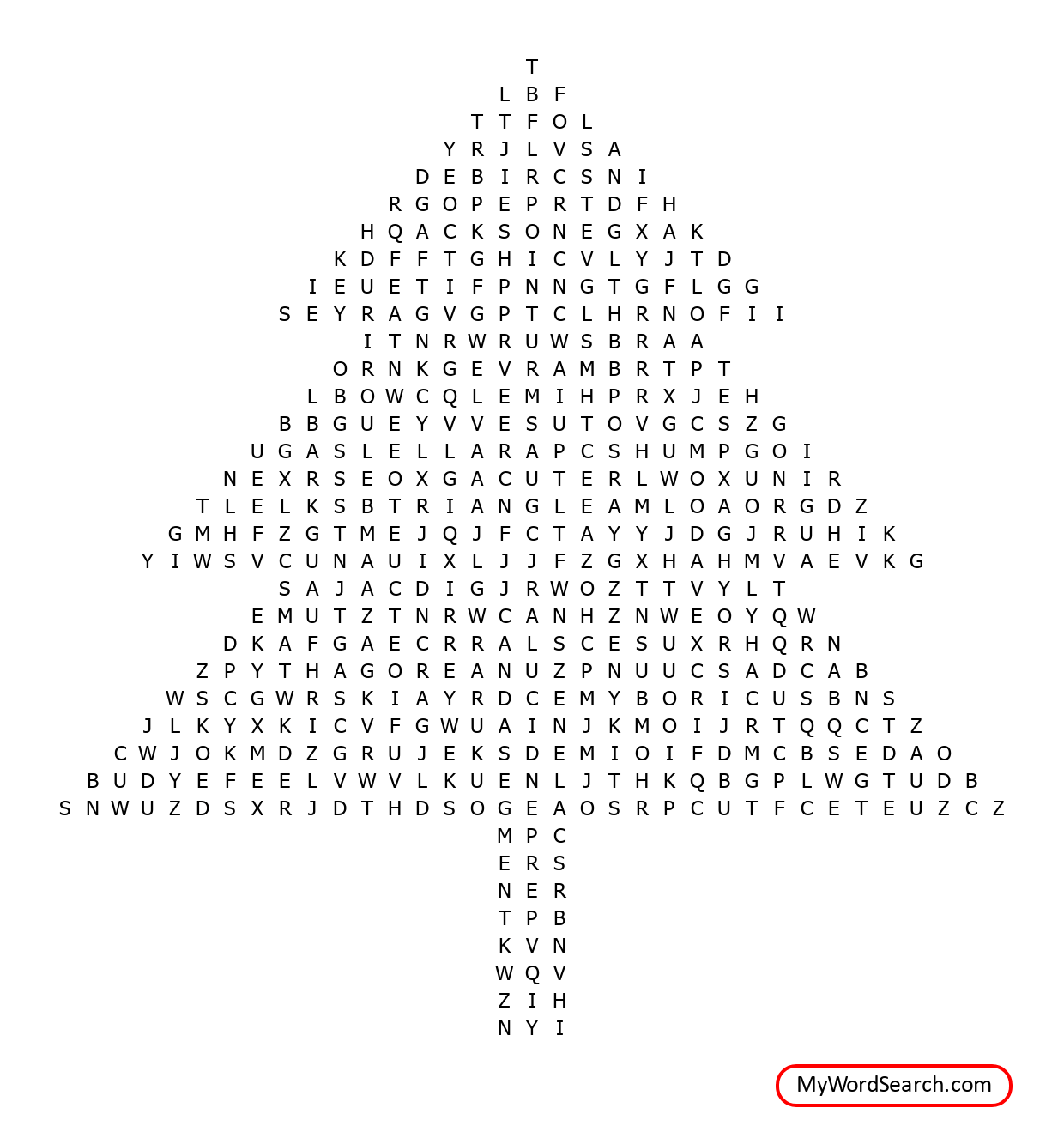 Holiday Geometry Crossword