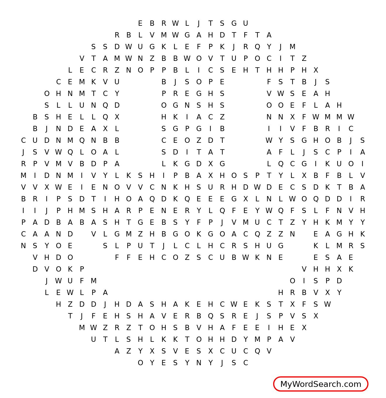 Initial Sh Crossword Puzzle