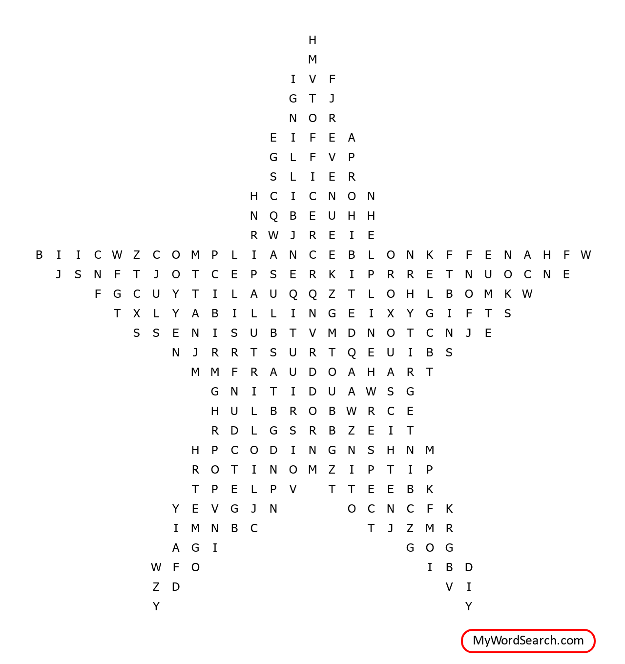 National Compliance And Ethics Week Word Search