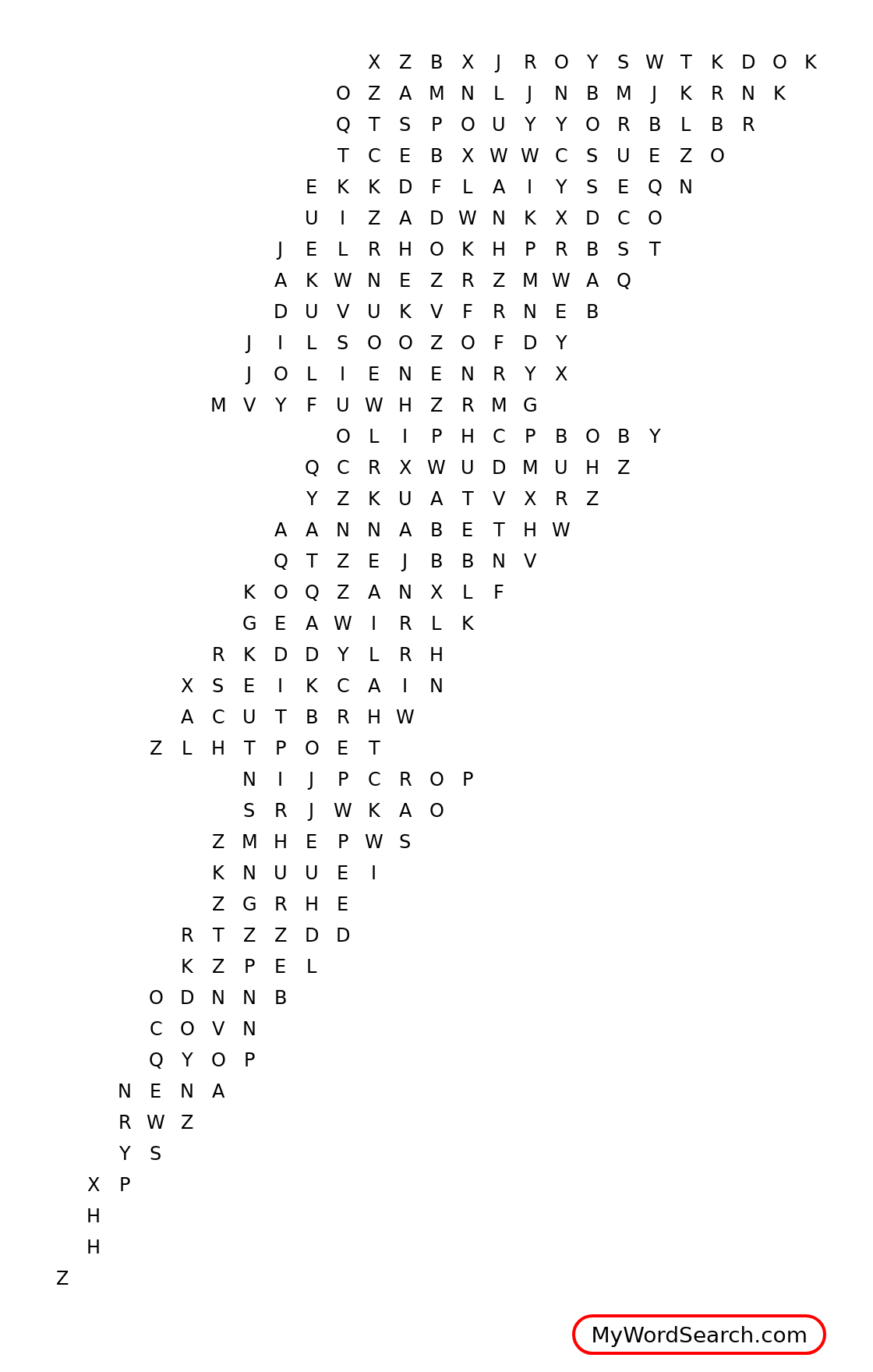Percy Jackson Word Search