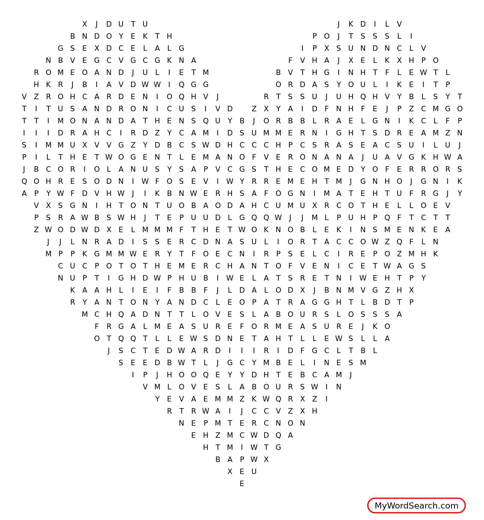 Plays Of Shakespeare Word Search