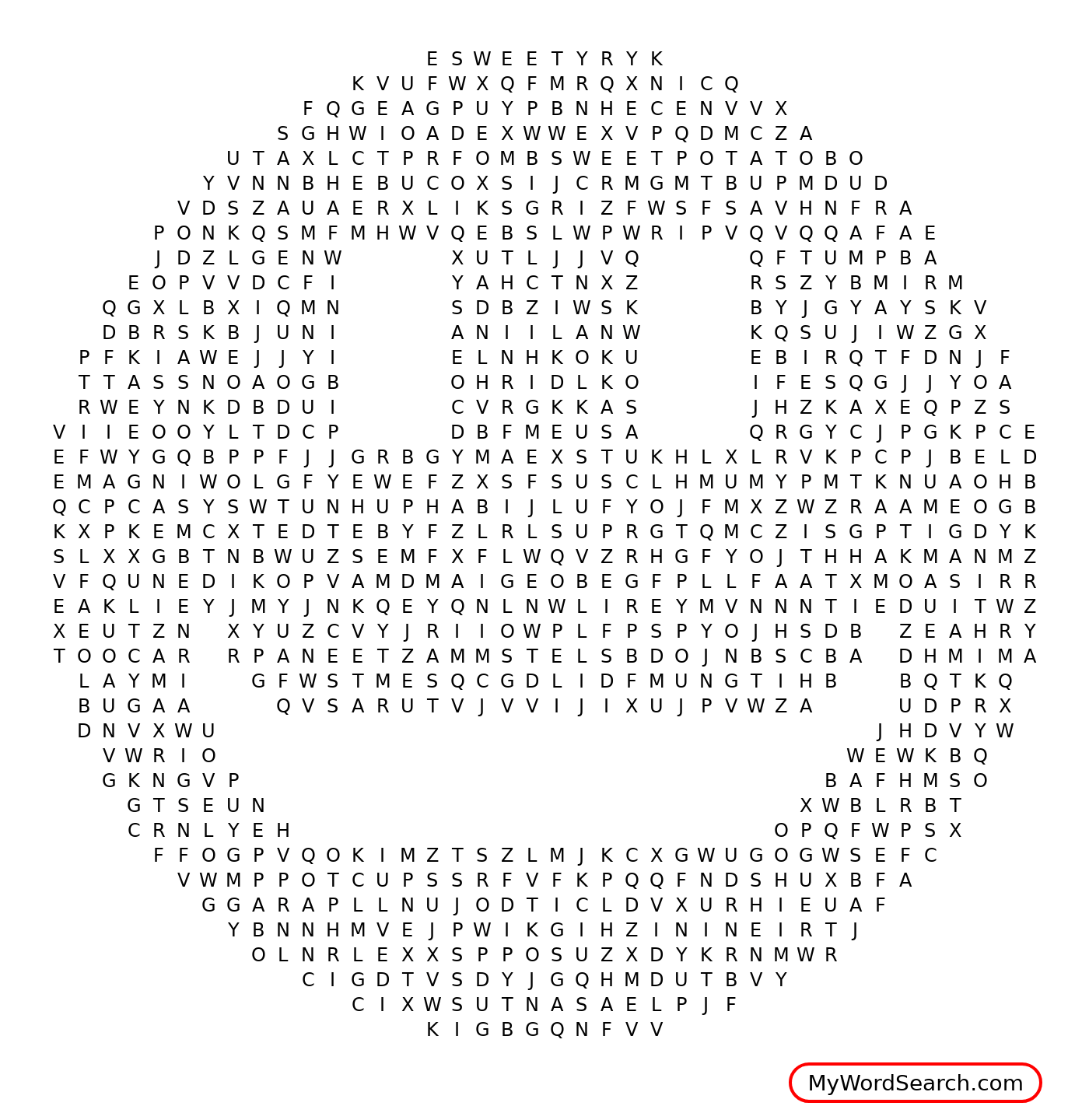 Smiley Face Word Search