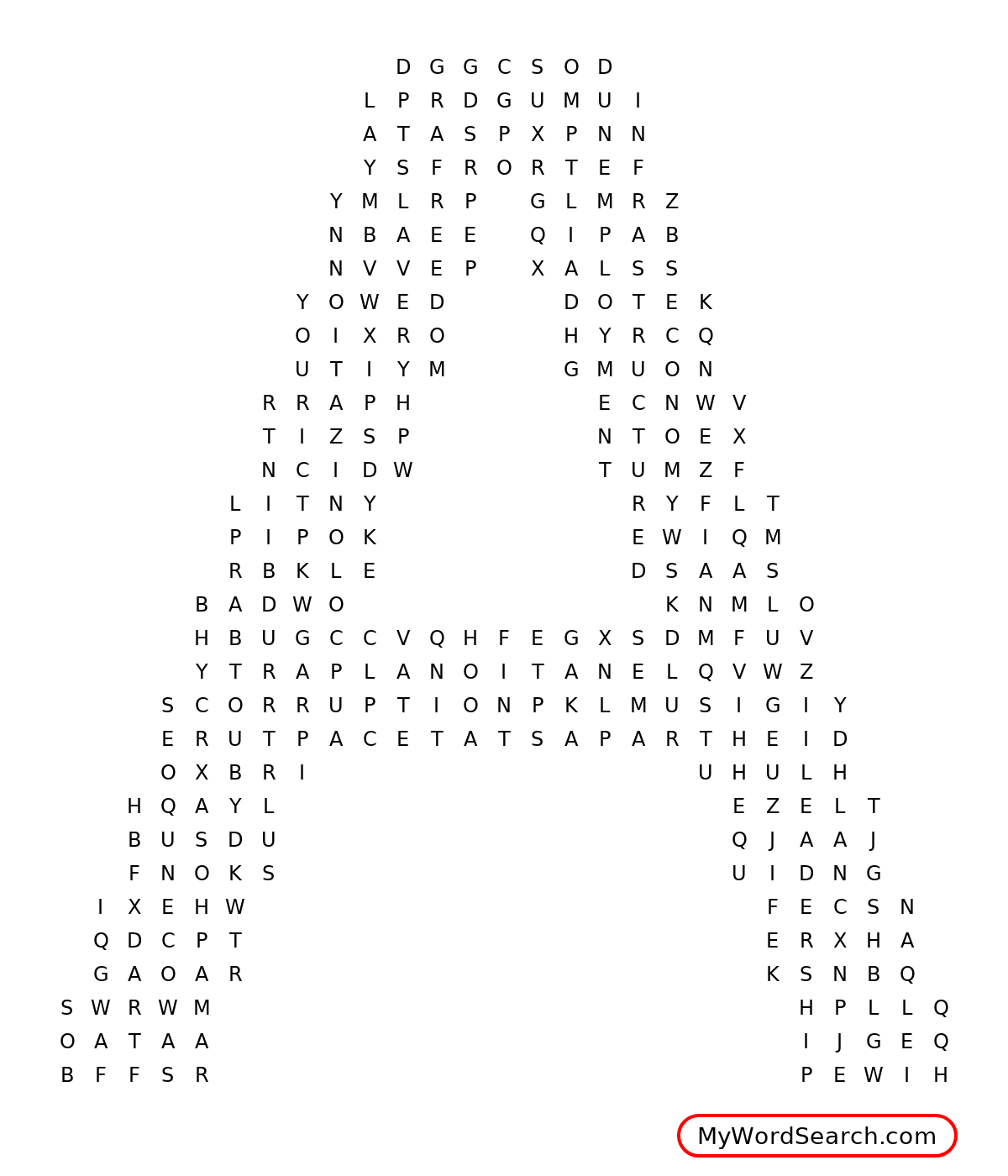 South Africa Word Search